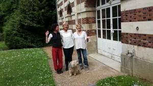 """l'équipe """"sous les cèdres"""", Estelle, Anette et Patricia"""