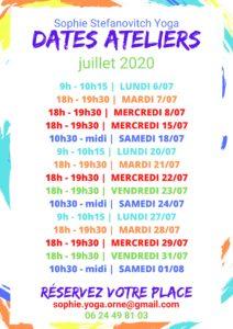Dates des ateliers de Sophie - Juillet 2020 (002)